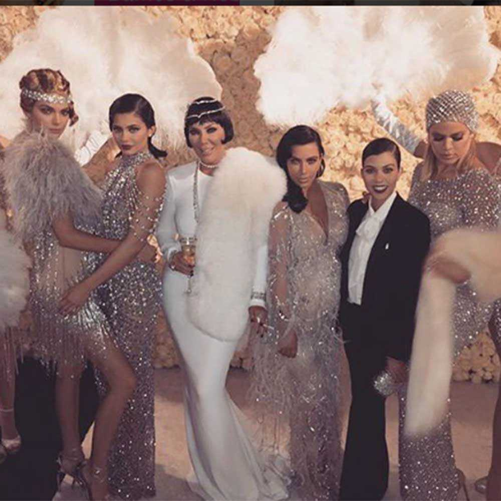Kris Jenner celebrated her 60th birthday with a Great Gatsby themed party.