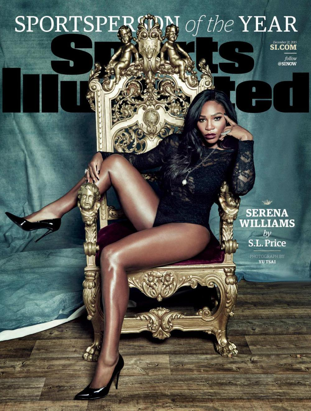Serena Williams graced the cover of Sports Illustrated, and was named 2015 sportswoman of the year.