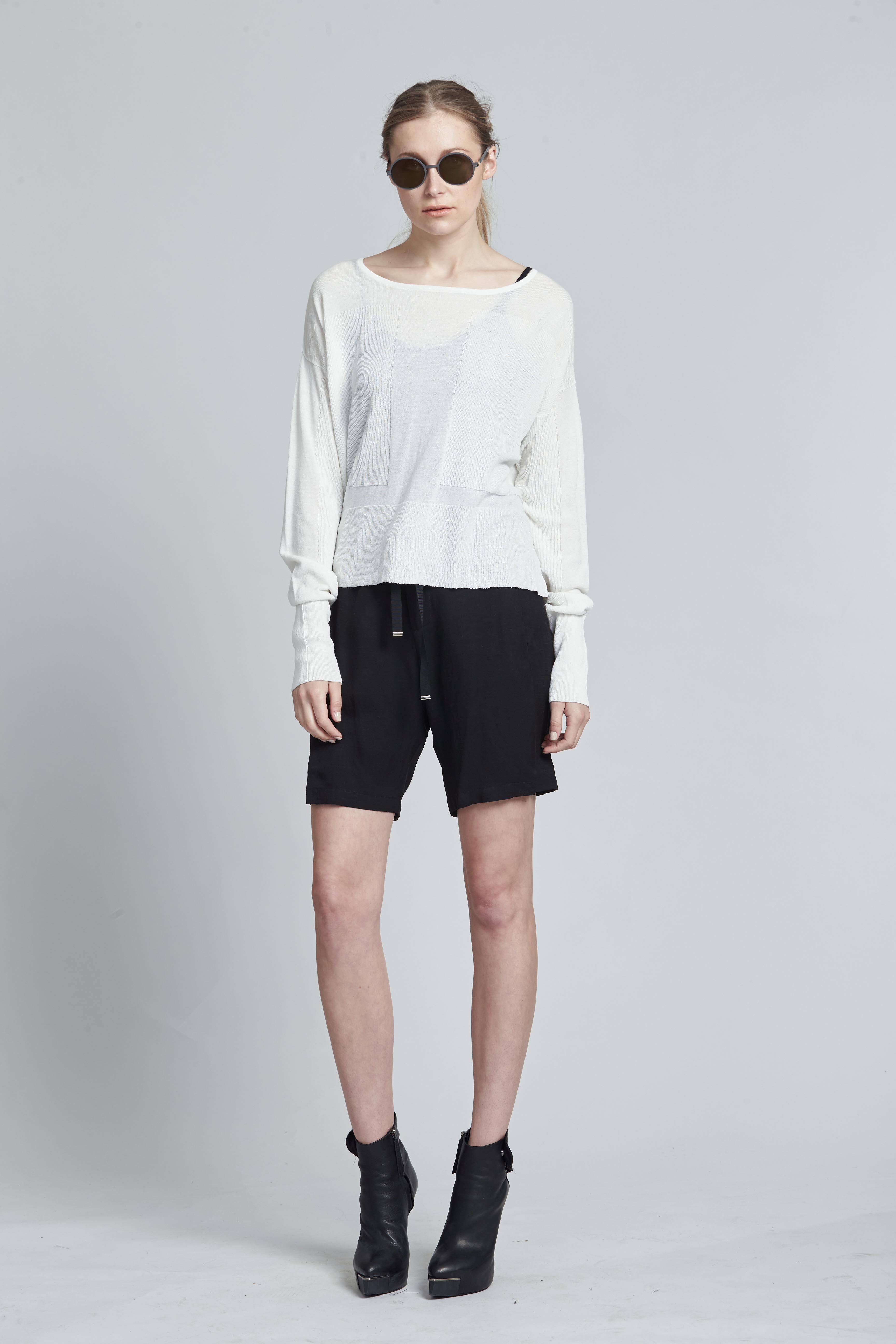 Associate Sweater Alabaster. Addition Shorts Black