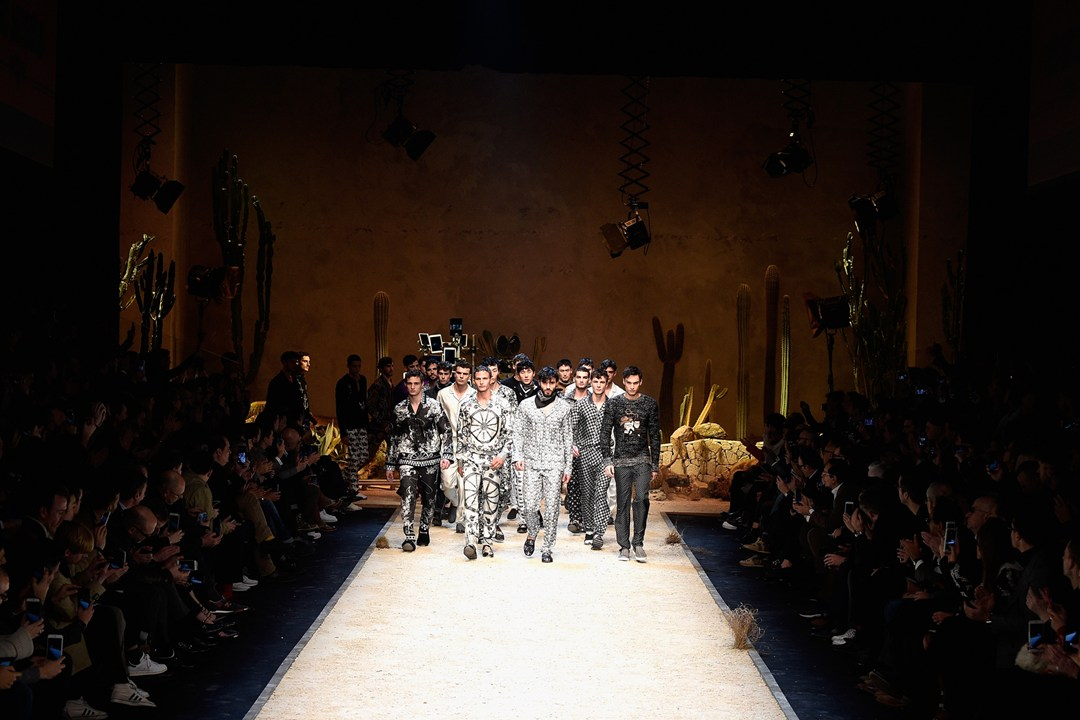 Dole and Gabbana had its Milan Menswear fashion show