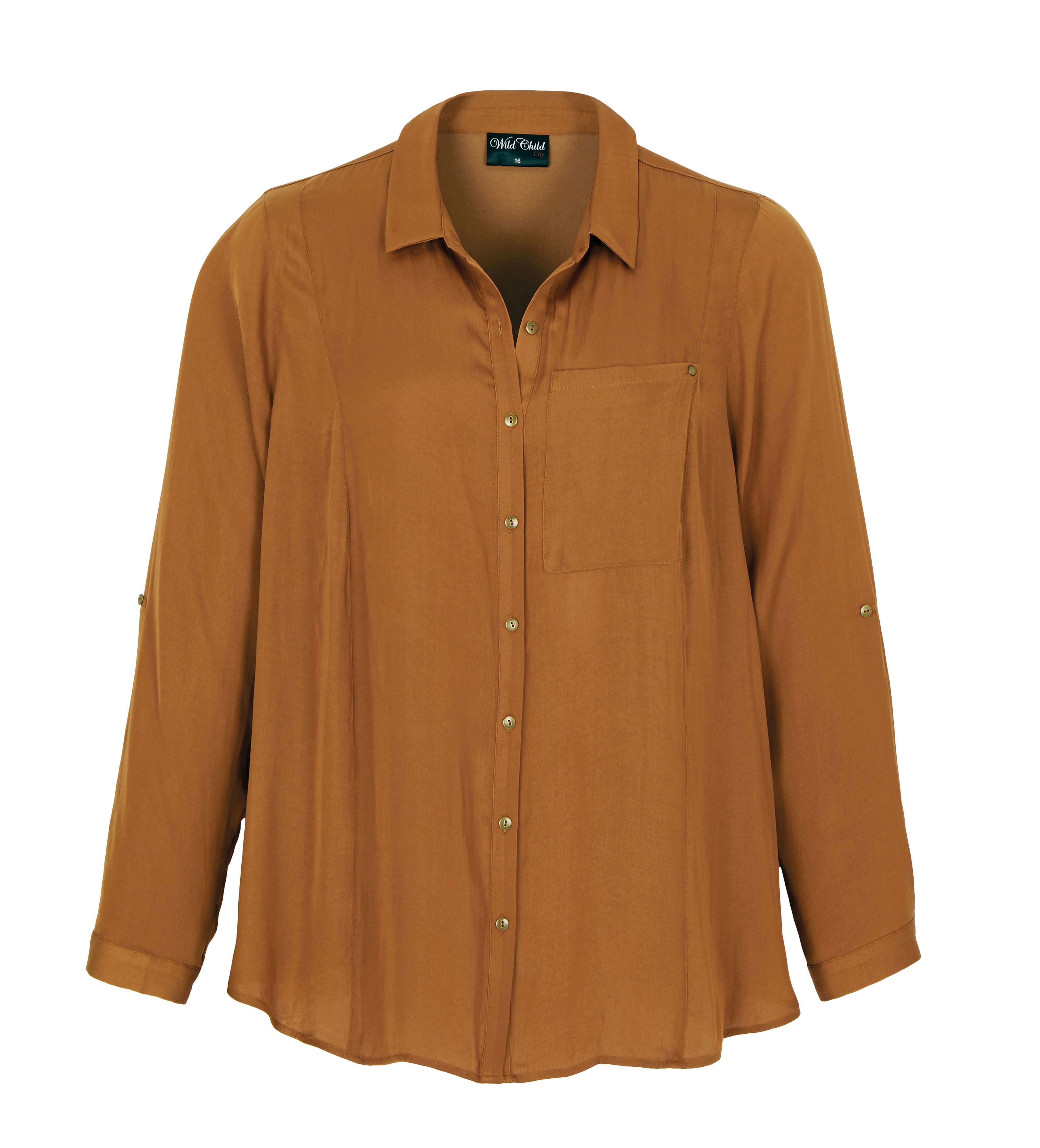 6077825 Wild Child City Roll Slv Peached Gold Shirt $69.99 Instore Feb 05 2016
