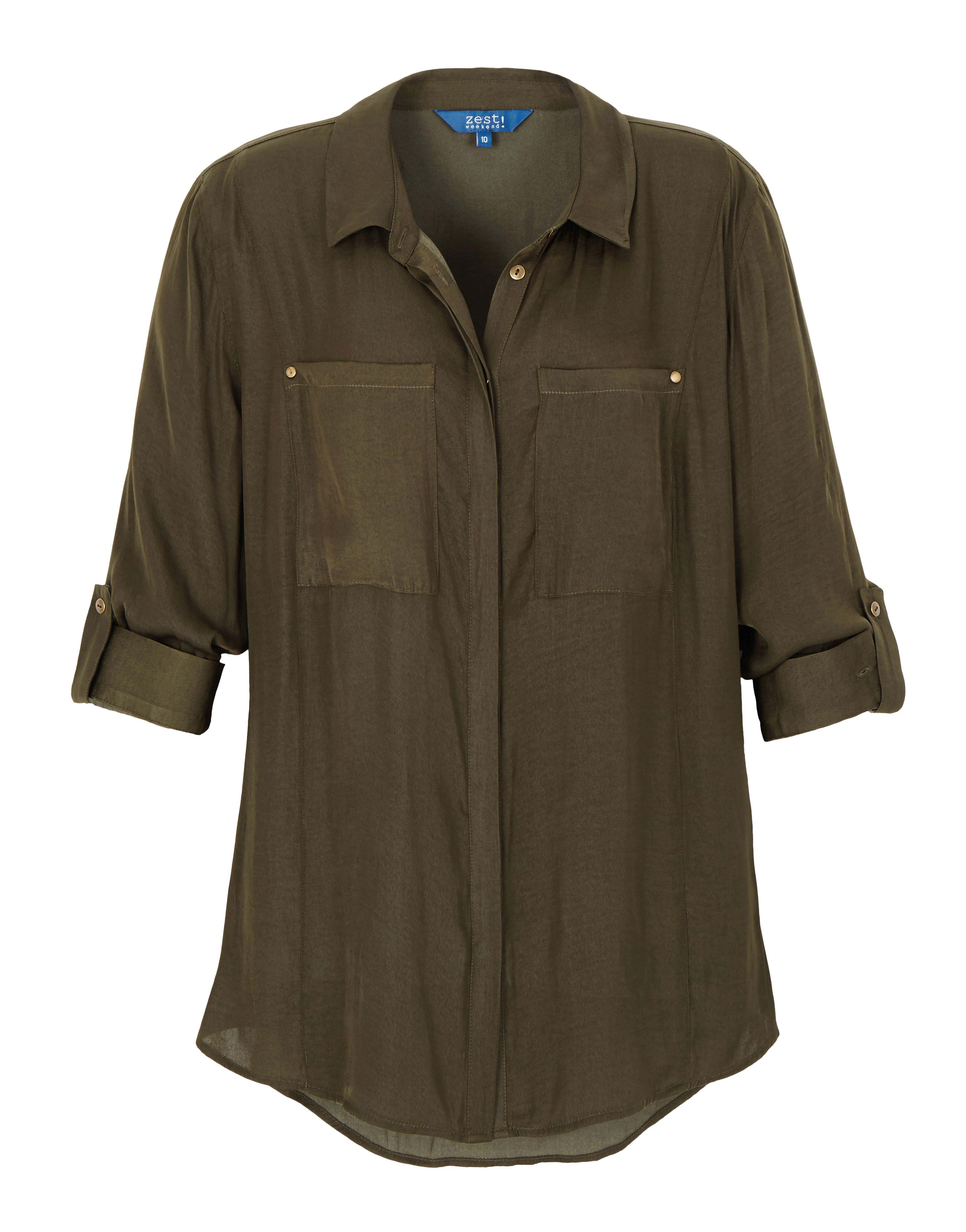 6085105 Zest Weekend Lobgline Peached Shirt Rolled Sleeve $59.99 Feb 18 2016