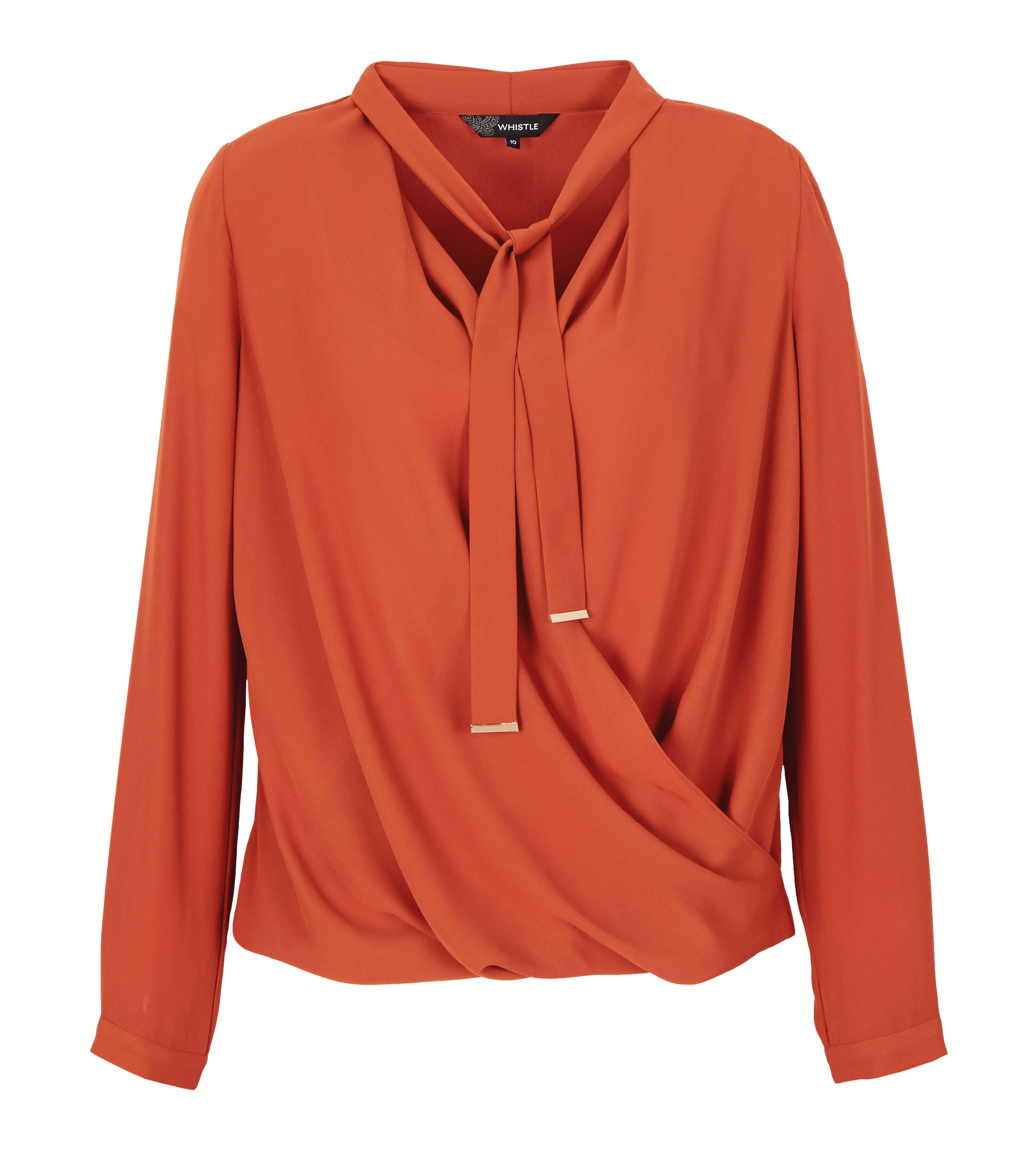 6089465 Whistle Wrap Front Blouse $59.99 Instore March 01 2016
