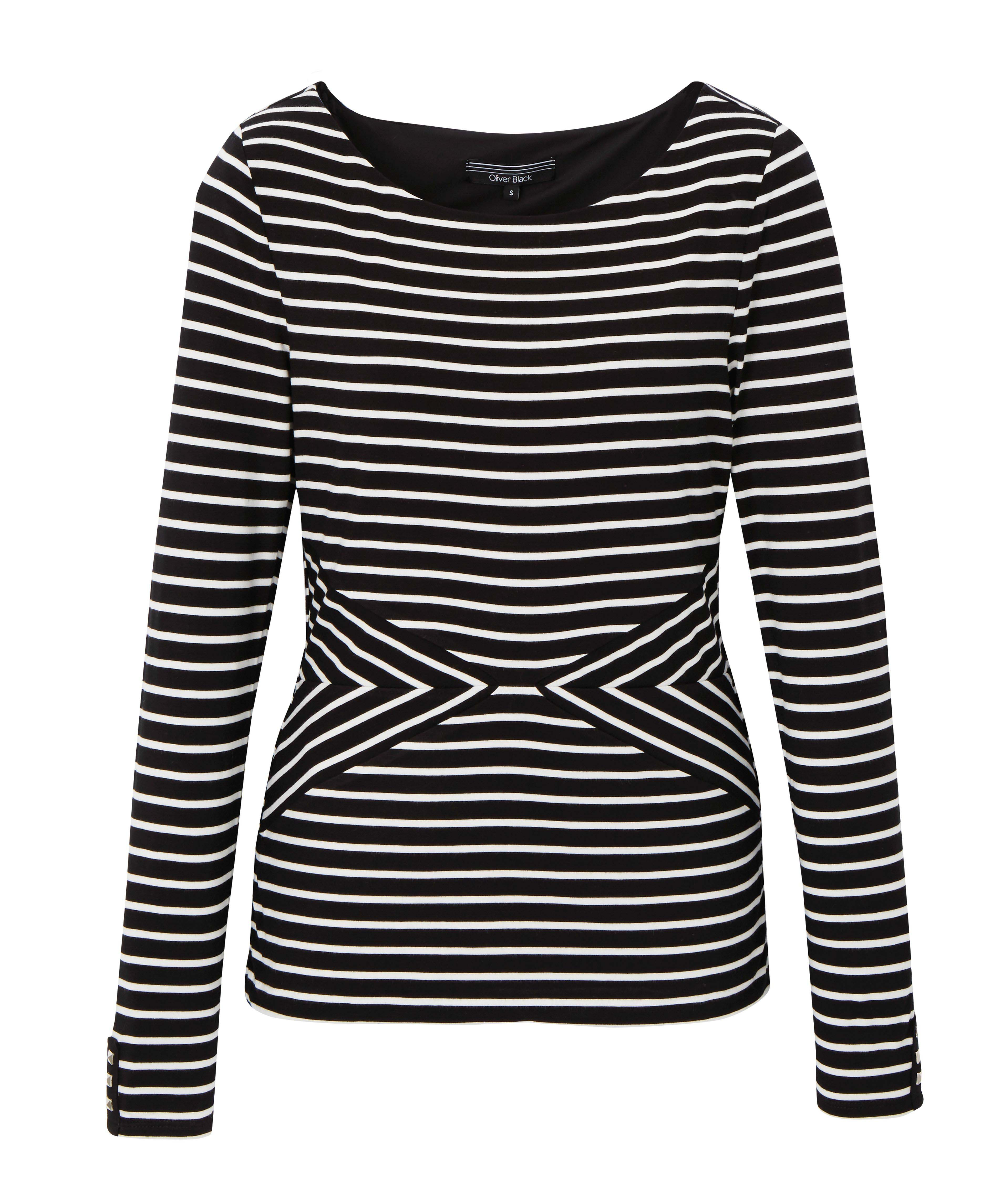 6089541 Oliver Black LS Stripe Knit Top Black and White $69.99 Instore 1 Apr 2016