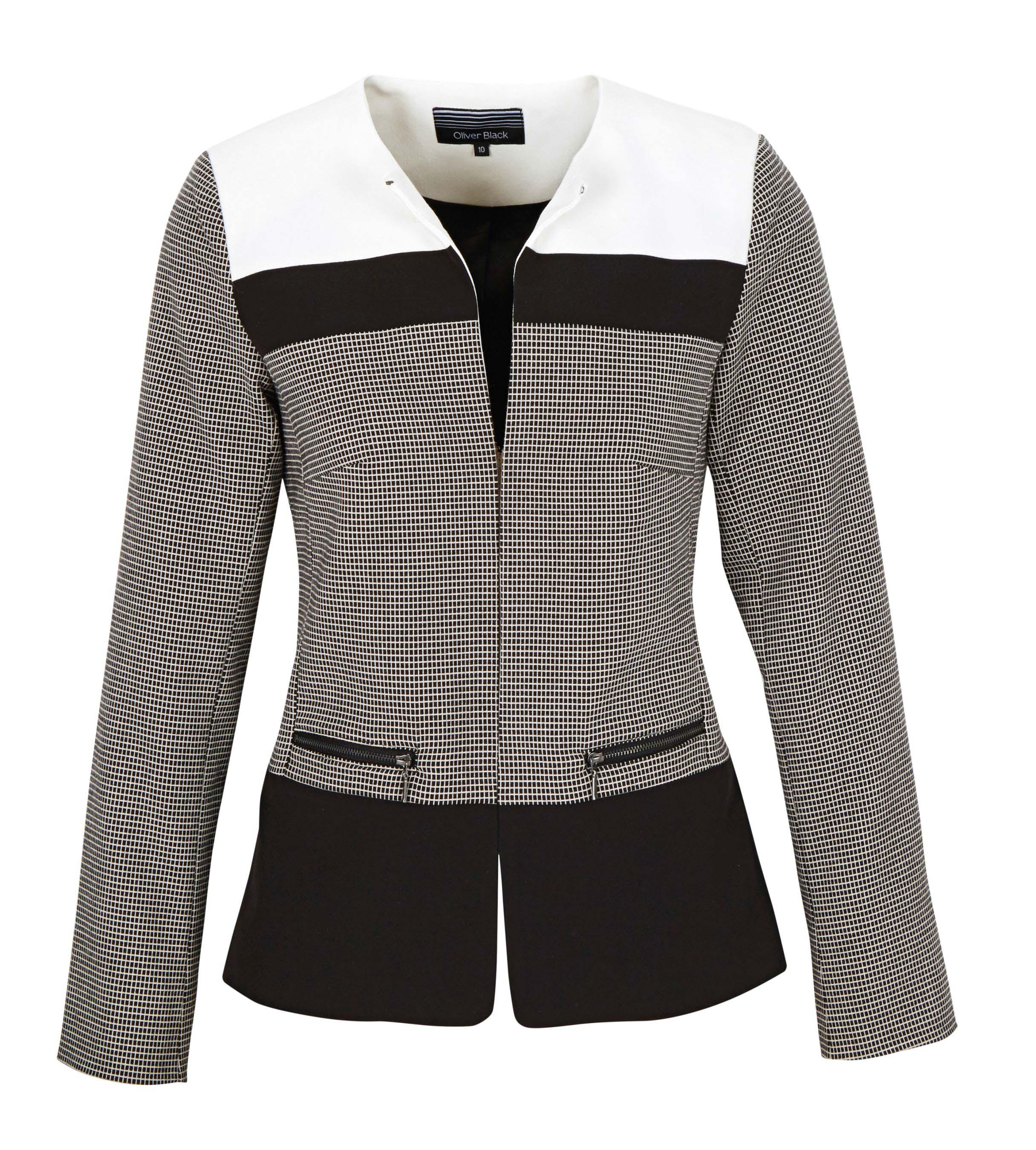 6089617 Oliver Black Colour Block Jacket $139.99 Instore March 07 2016