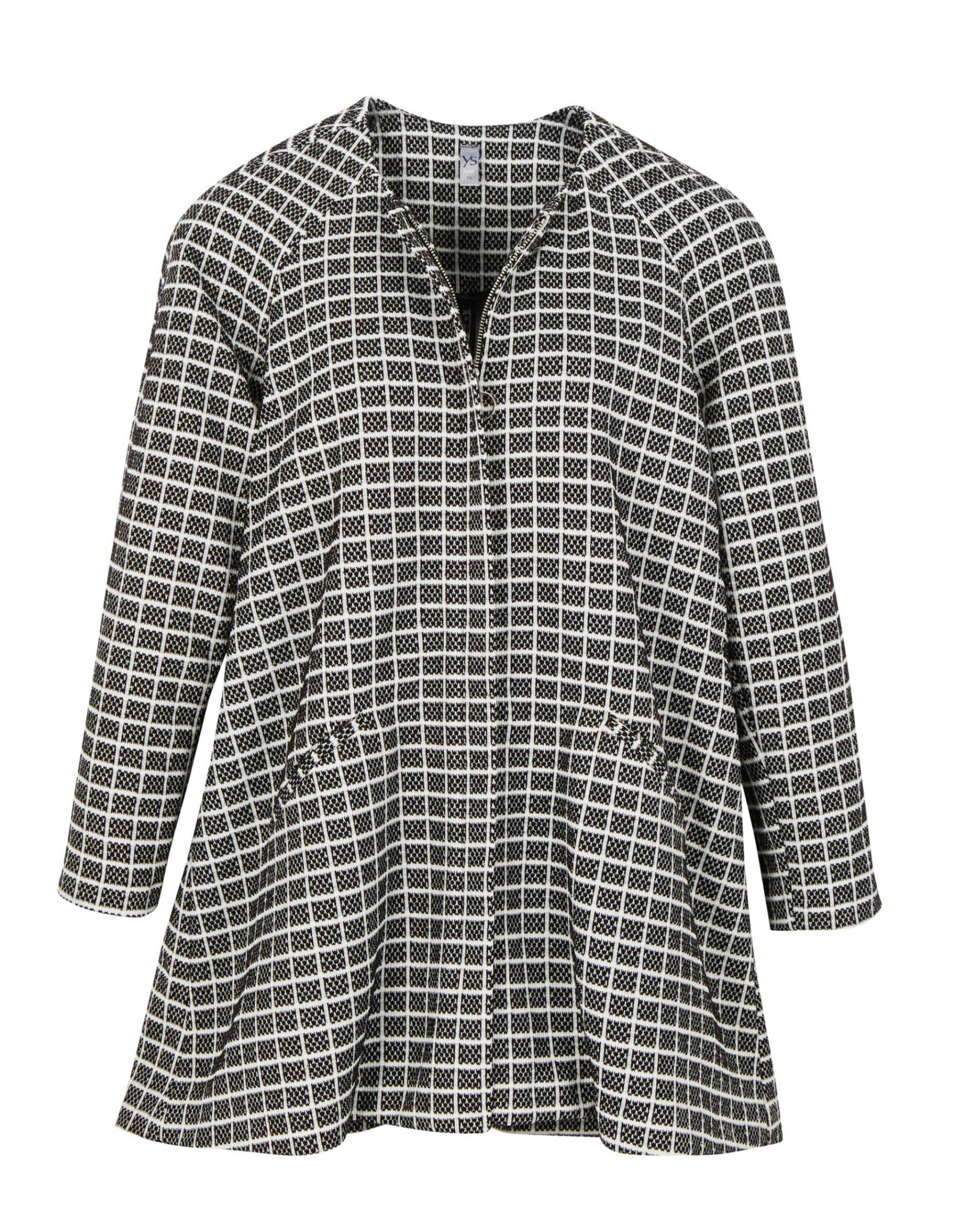 6089949 Yourself Check Knit Coat $149.99 Instore Feb 23 2016