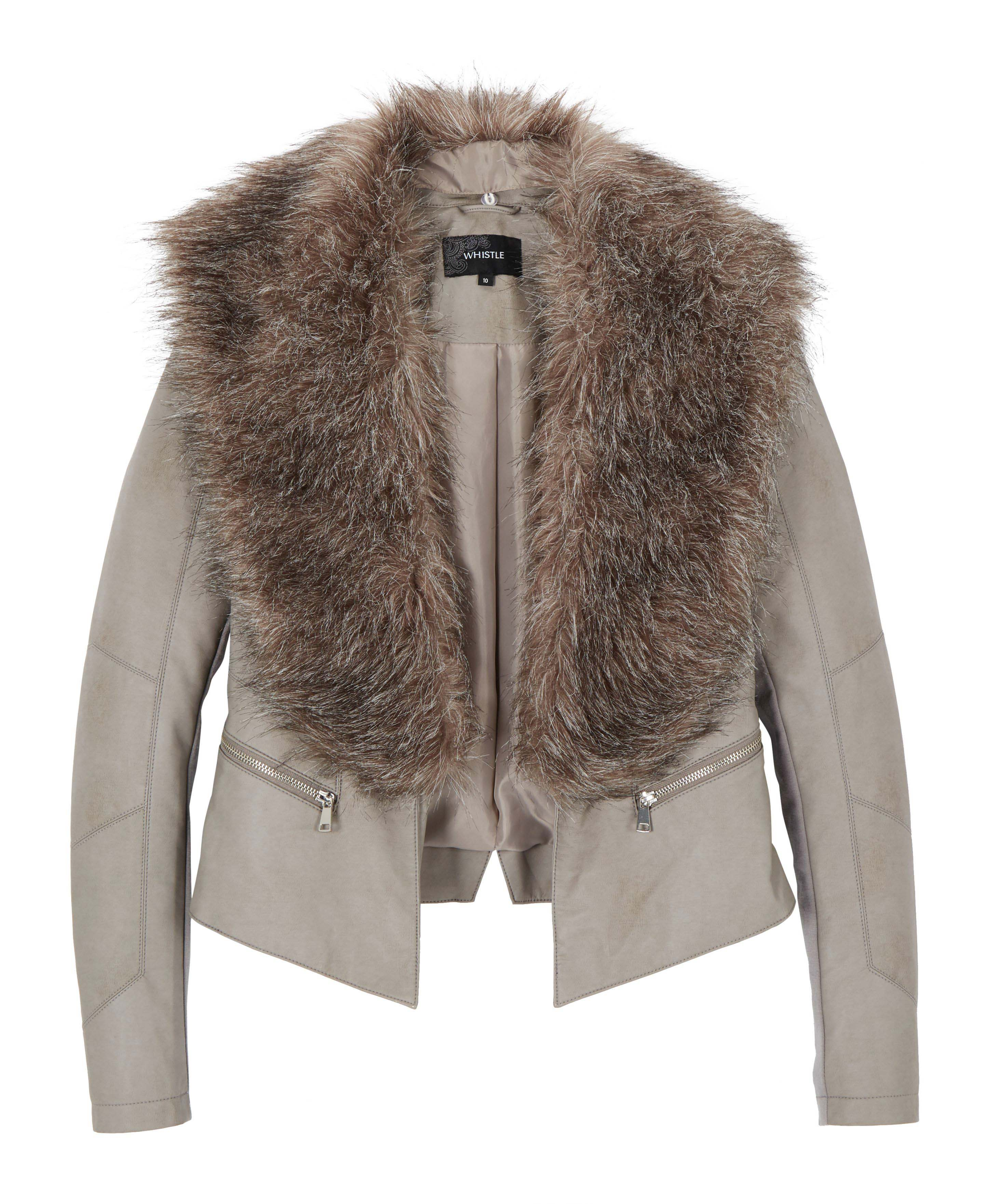 6090187 Whistle Zip Jacket with Faux Fur $149.99 Instore Feb 03 2016
