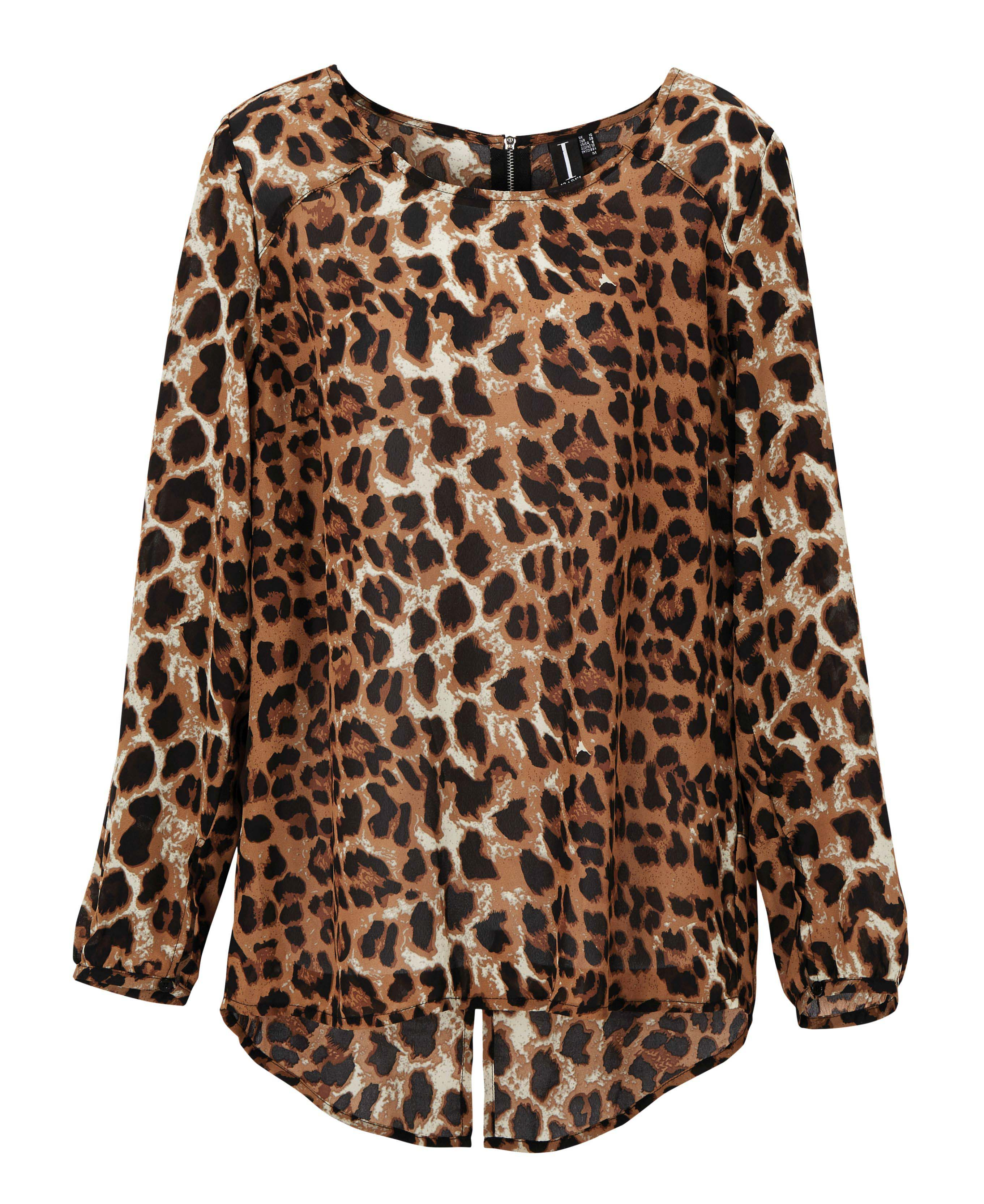 6090701 Izabel London LS Leopard Print Top $109.99 Instore March 02 2016