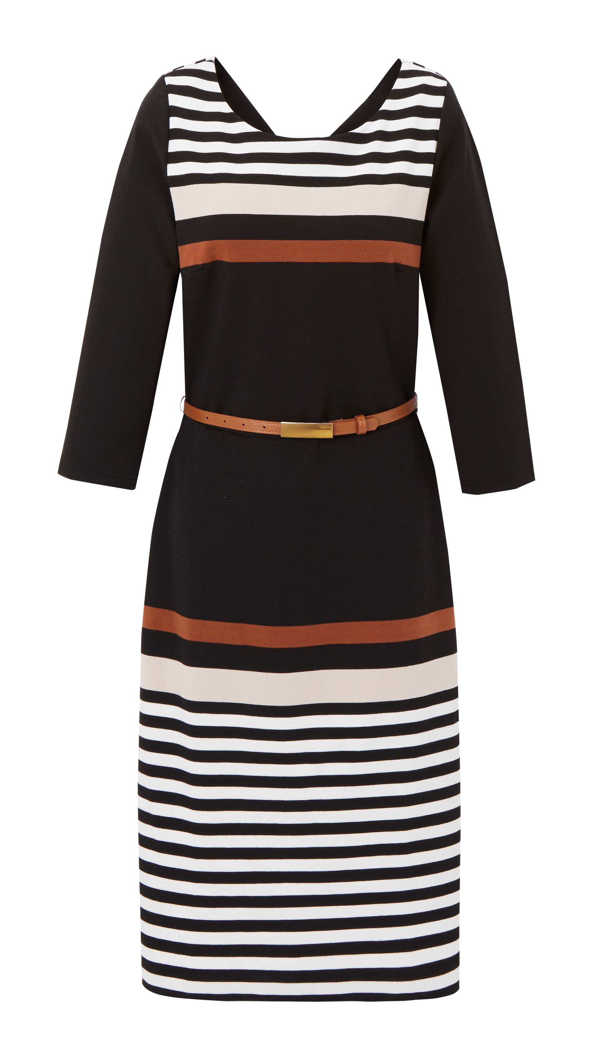 6090992 Whistle Stripe Ponte Dress with Stripe Neutral Stripe $89.99 Instore 8 Mar 2016
