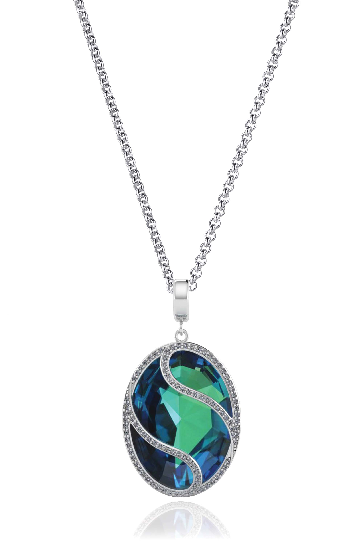 Kagi Steel Me Petite Necklace 47cm $129 with Blue Danube Pendant $179 (Blue Side) www.kagi.net