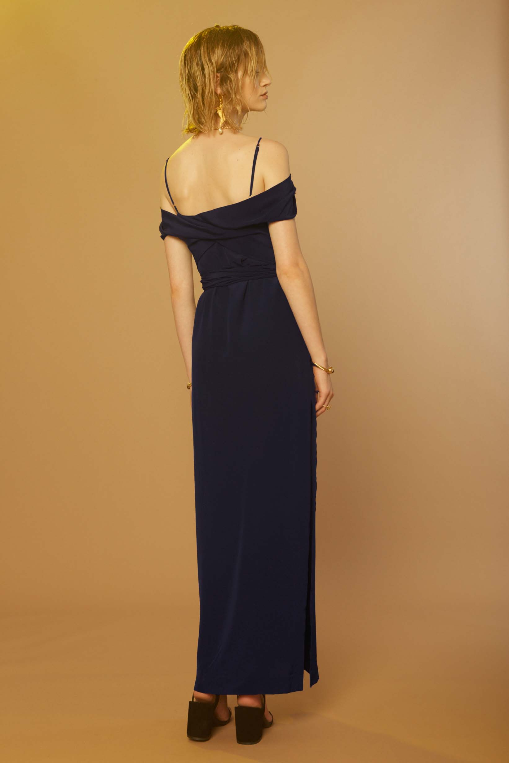 Liam Sonic Gown (Navy) Back