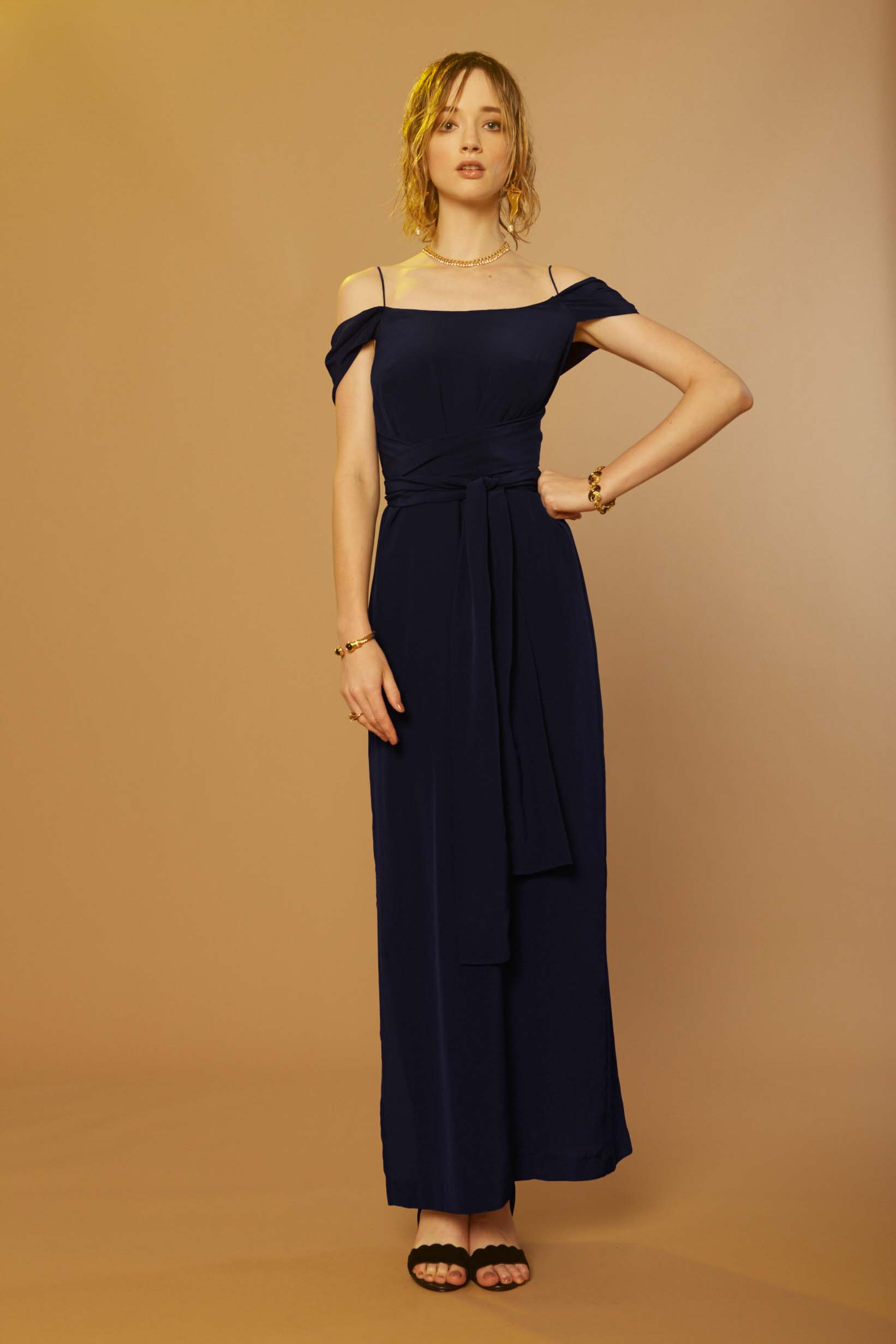 Liam Sonic Gown (Navy)