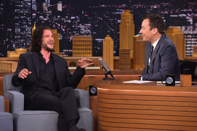 On The Tonight Show with Jimmy Fallon, Games Of Thrones actor Kit Harrington reveals that he once got out of a speeding ticket by disclosing the fate of his character on the hit show.