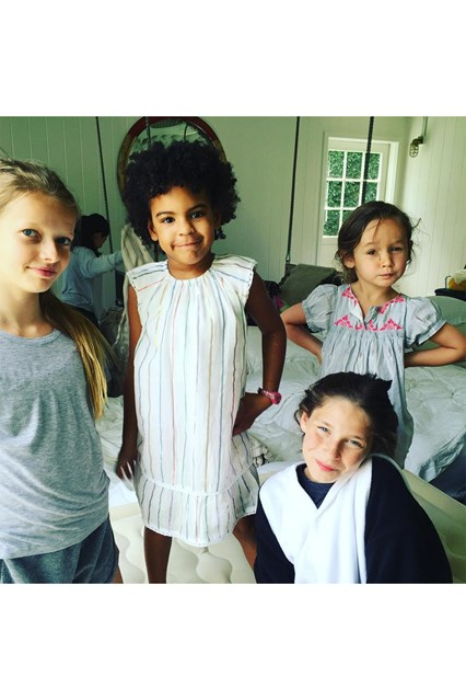 Gwyneth Paltrow Instagrams a picture of her daughter, Apple Martin at her 12th Birthday. Which included Beyoncé' and Jay Z's daughter, Blue Ivy. She captions the post: