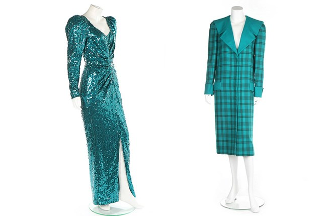 Two dresses belonging to Princess Diana go up for auction next month.