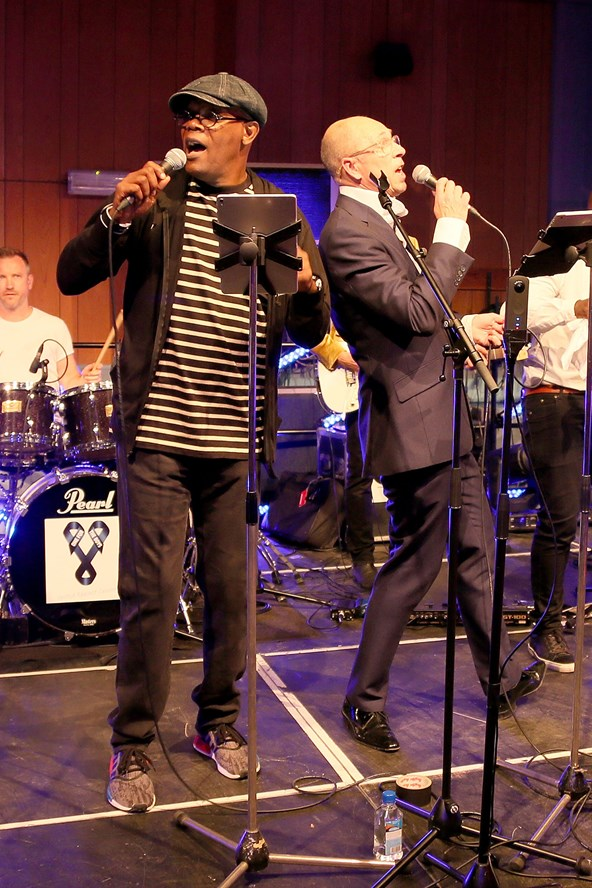 Samuel L. Jackson and GQ editor held a celebrity karaoke event to celebrate the end of London Collections Men at Abbey Studios