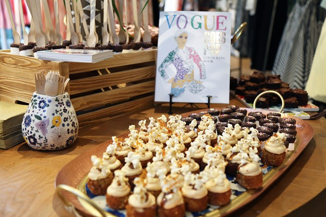 The Vogue Goes Pop Colouring Book by Ian R Webb was launched
