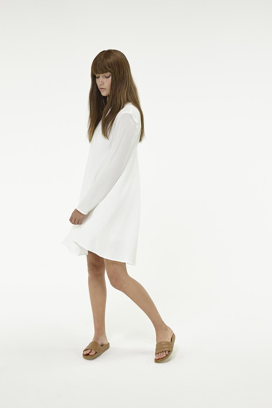 Huffer_Q3-16_W-LS-Minne-Dress_White-04