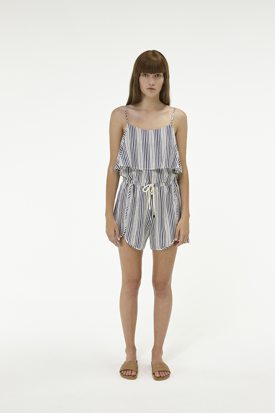 Huffer_Q3-16_W-Petal-Frill-Jumpsuit_Navy-Cream-01