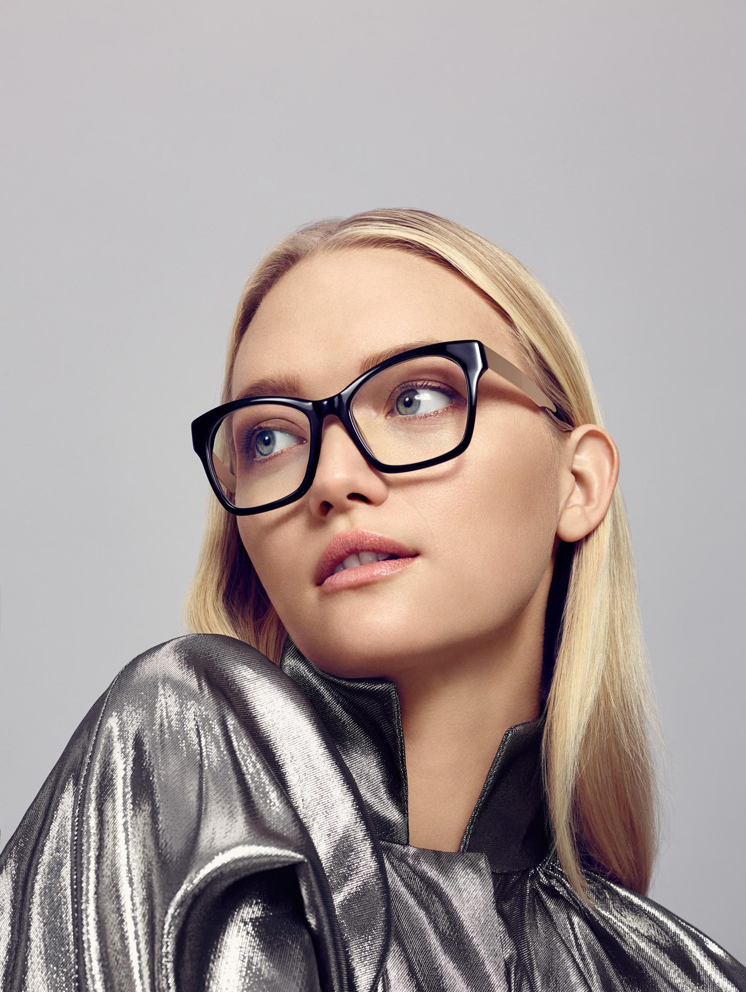 Gemma wears ELLERY 02 BLK glasses SKU 30474642 RRP 2 pairs from $299