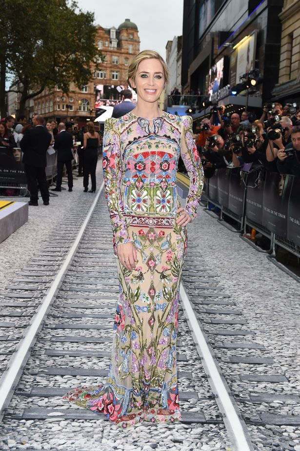 Emily Blunt at the Girl On The Train premiere in London
