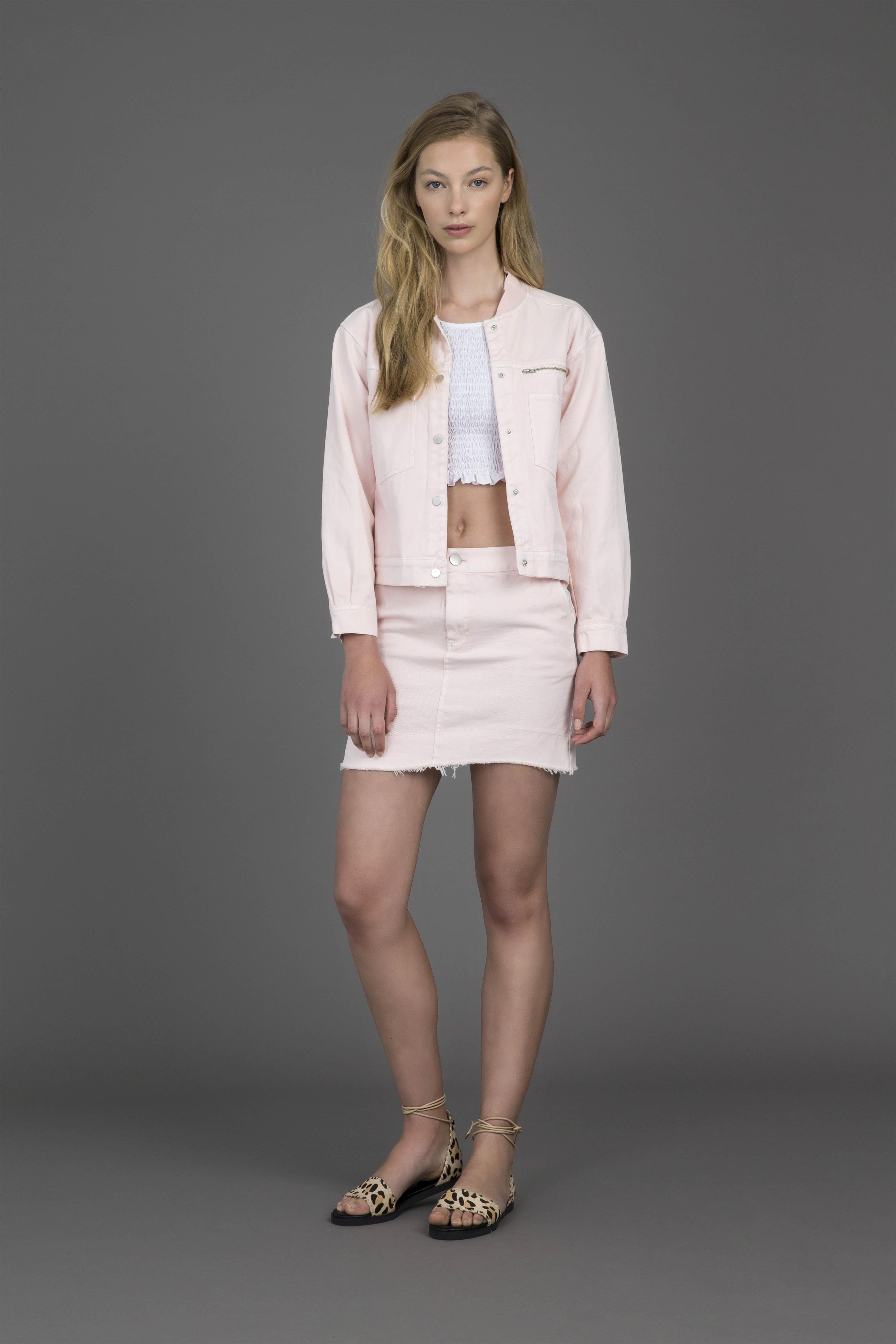 ruby-shells-halter-top-frances-bomber-frances-miniskirt