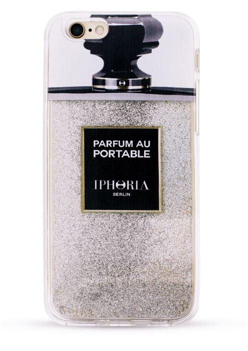 Iphoria 11 - Liquid Case Parfum au Portable Silver Glitter Case - iPhone 7