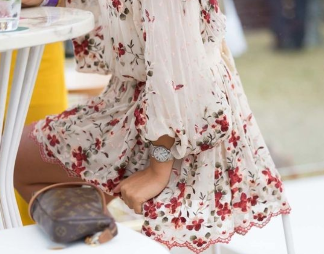 Feminine florals are a polo classic, compliment a standout dress with classic accessories.