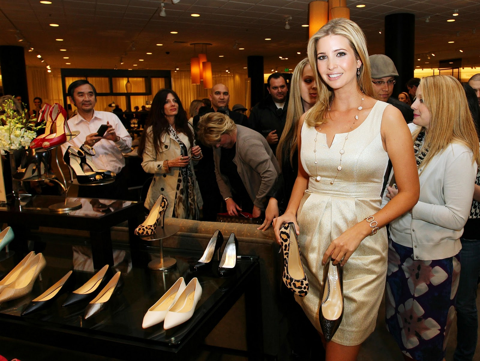 Ivanka Trump's footwear and clothing lines seem to be suffering as a result of her father's presidency.  Many consumers have boycotted her brand, and Nordstrom announced they are ceasing purchases of her line due to declining sales.