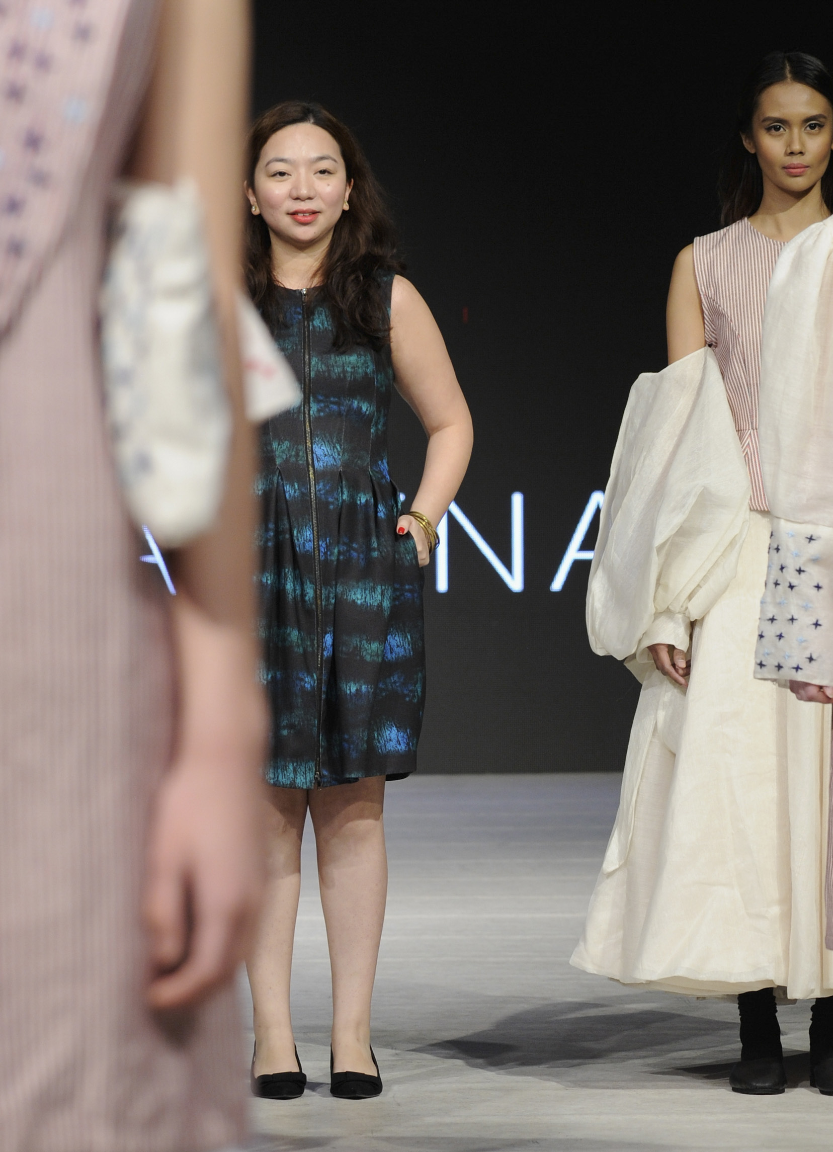 VANCOUVER, BC - MARCH 23:  Designer Gabbie Sarenas on the runway at Vancouver Fashion Week Fall/Winter 2017 at Chinese Cultural Centre of Greater Vancouver on March 23, 2017 in Vancouver, Canada.  (Photo by Arun Nevader/WireImage) *** Local Caption *** Gabbie Sarenas