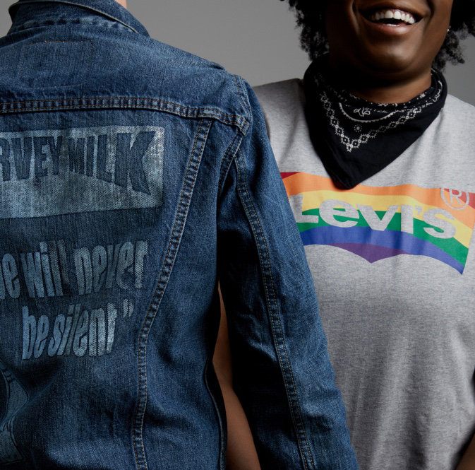 Levi's new capsule collection celebrates Pride, and is a collaboration with the Harvey Milk Foundation.