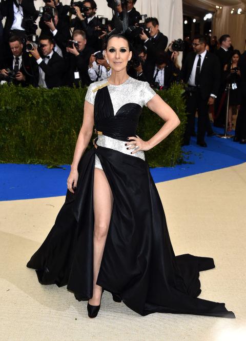 Celine Dion wearing Versace