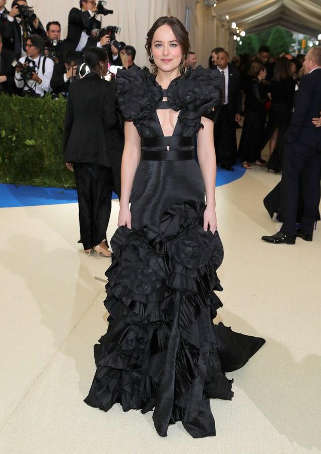 Dakota Johnson wearing Gucci