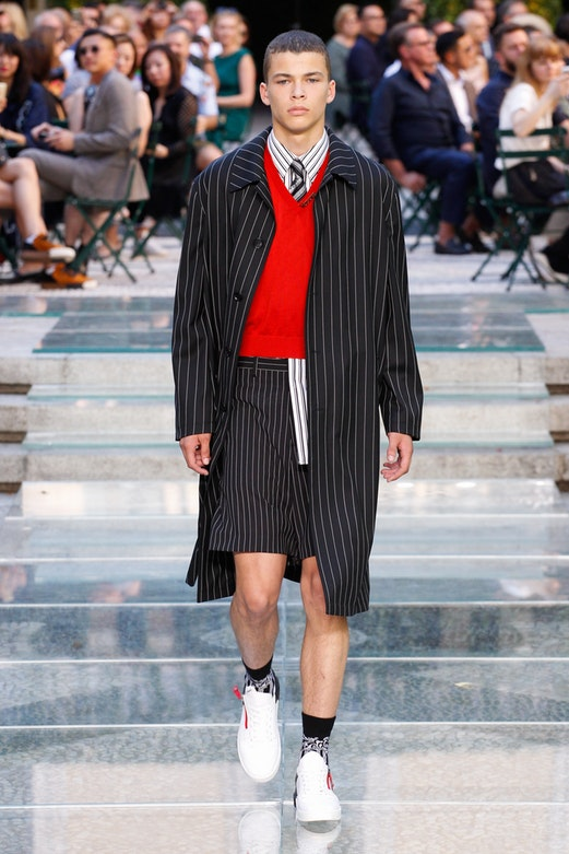 Versace was one of the many designers to showcase at Milan Fashion Week Men's.