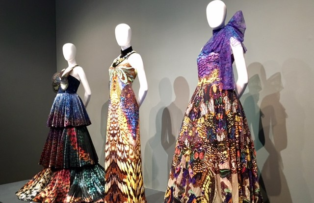 Mary Katrantzou's Couture creations are currently on display at Waddesdon Manor.