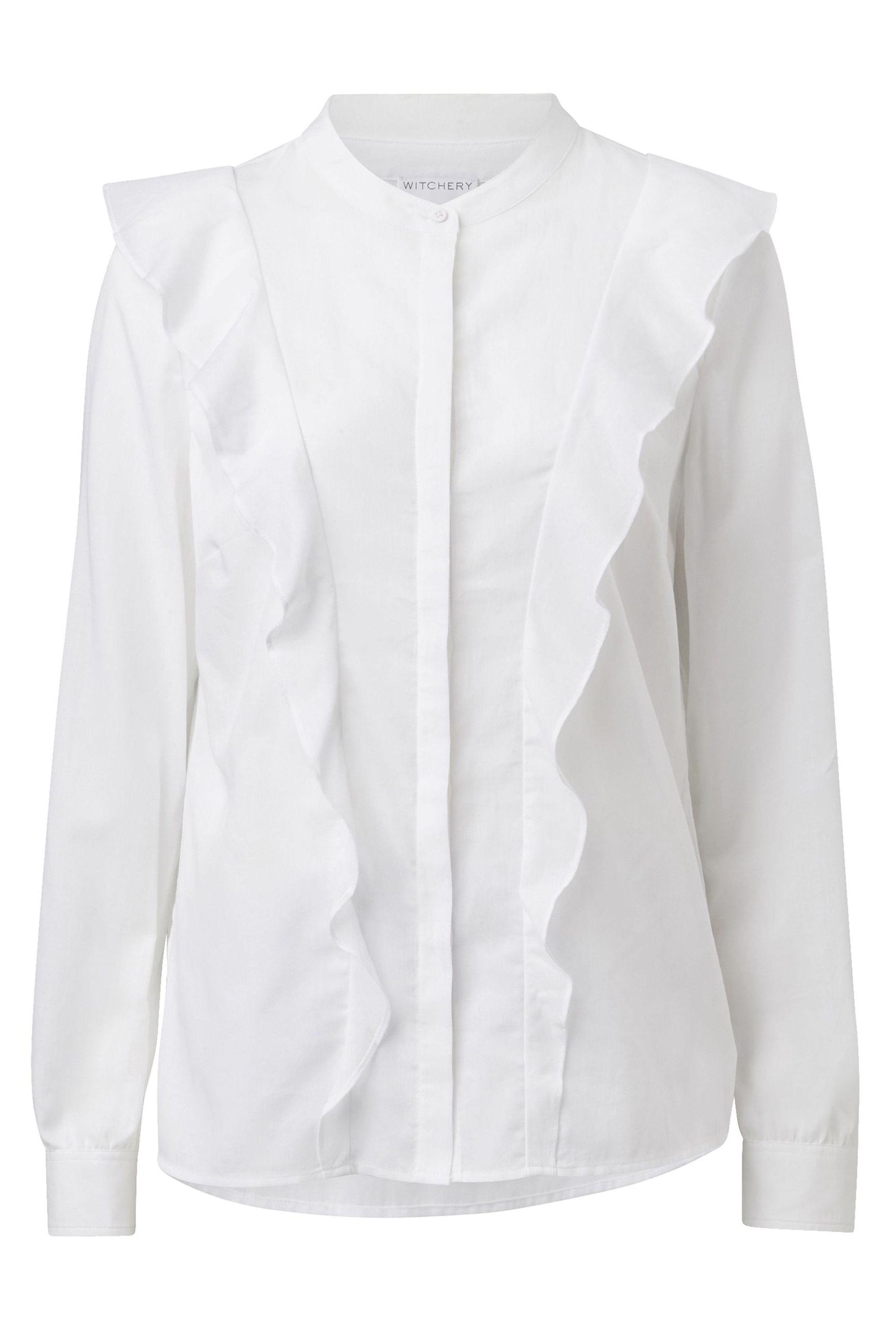 60212376_Witchery Downtown Ruffle Shirt, RRP$109.90