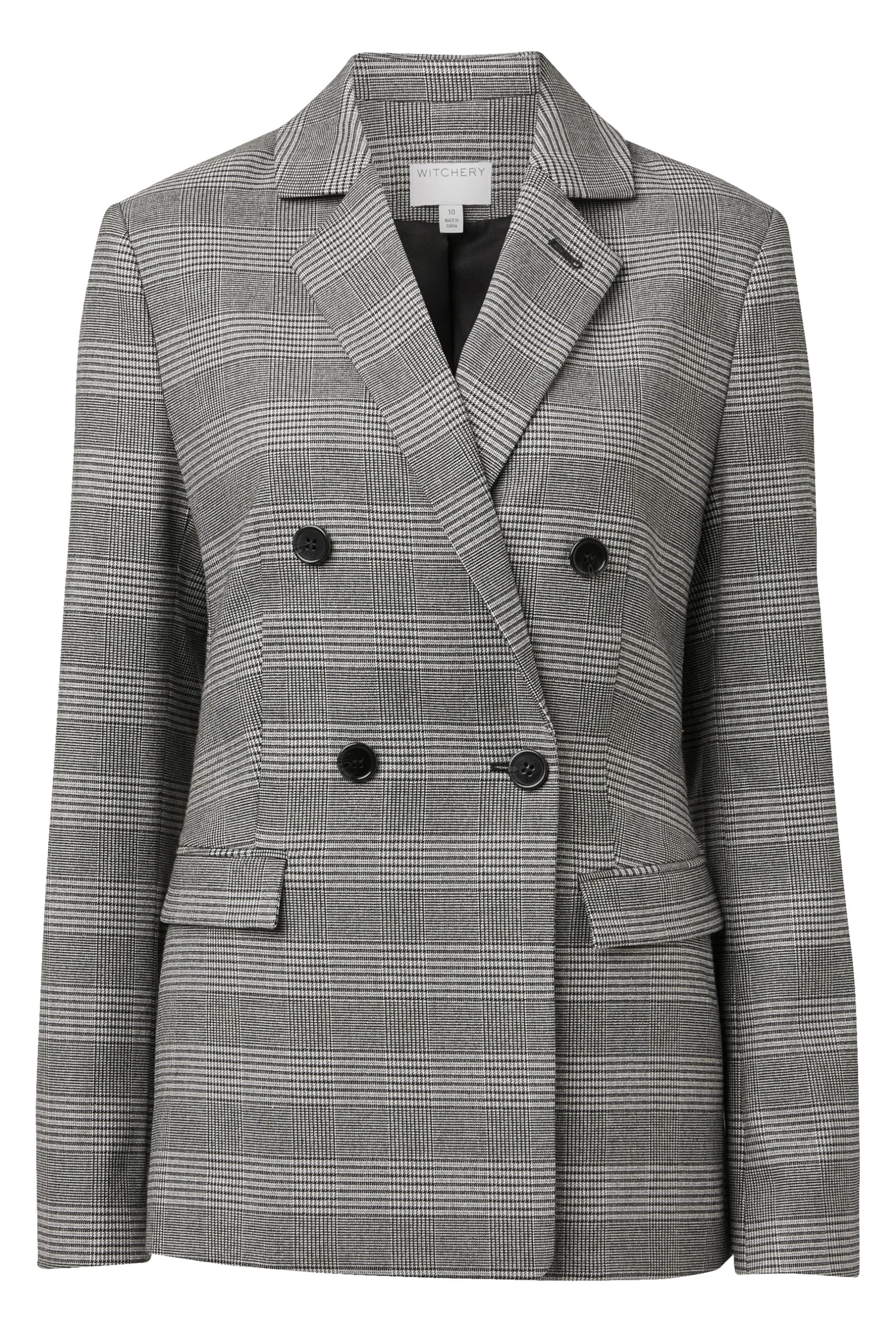 60212760_Witchery Check Double Breasted Blazer, RRP$299.90