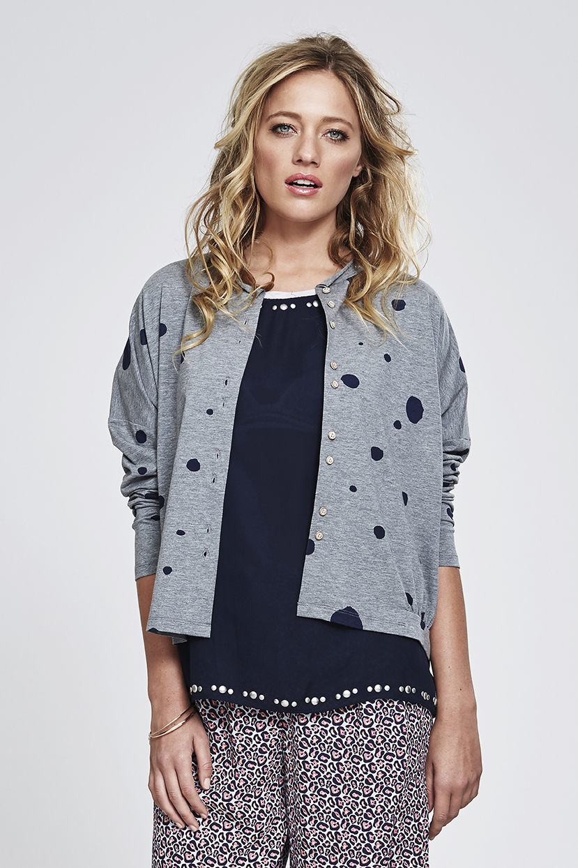MS133 Blot Spot Cardigan MS135 Bejewelled Top MS170 Printed Short