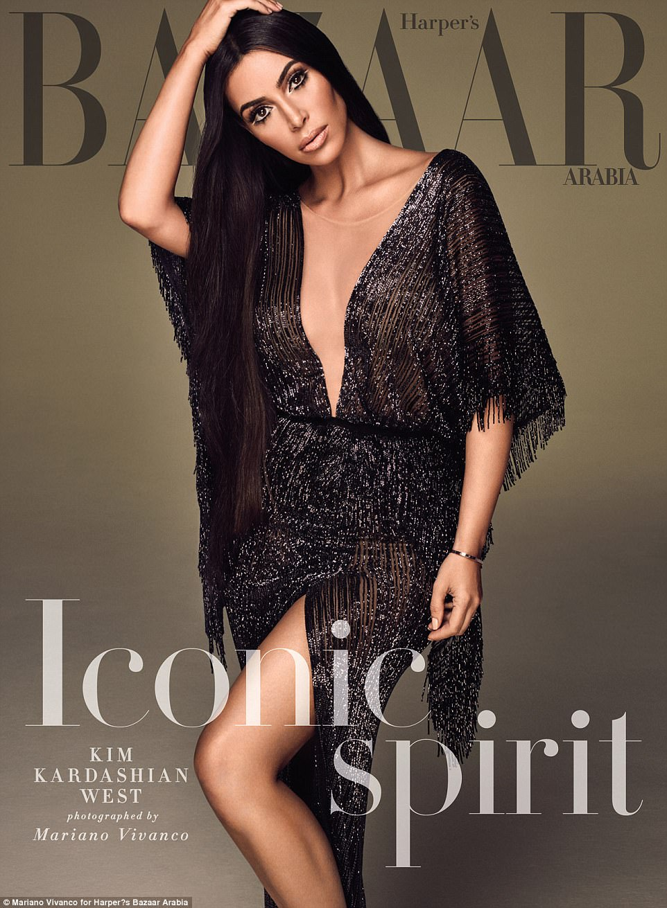 Kim Kardashian Morphs into Cher in her Harper Bazaar Cover.