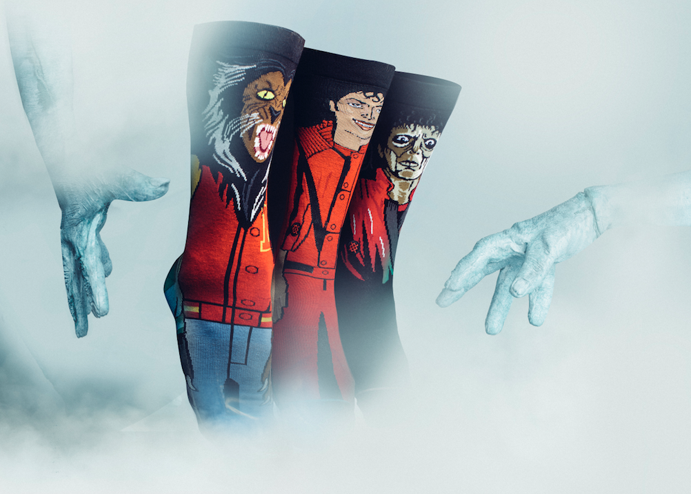 Stance Anthem are releasing three new sock styles inspired by Michael Jackson's Thriller video.