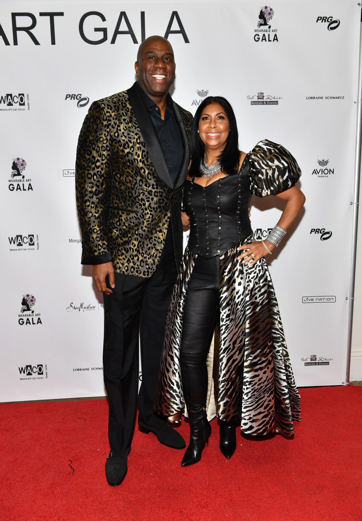 Magic Johnson  and Earlitha Kelly