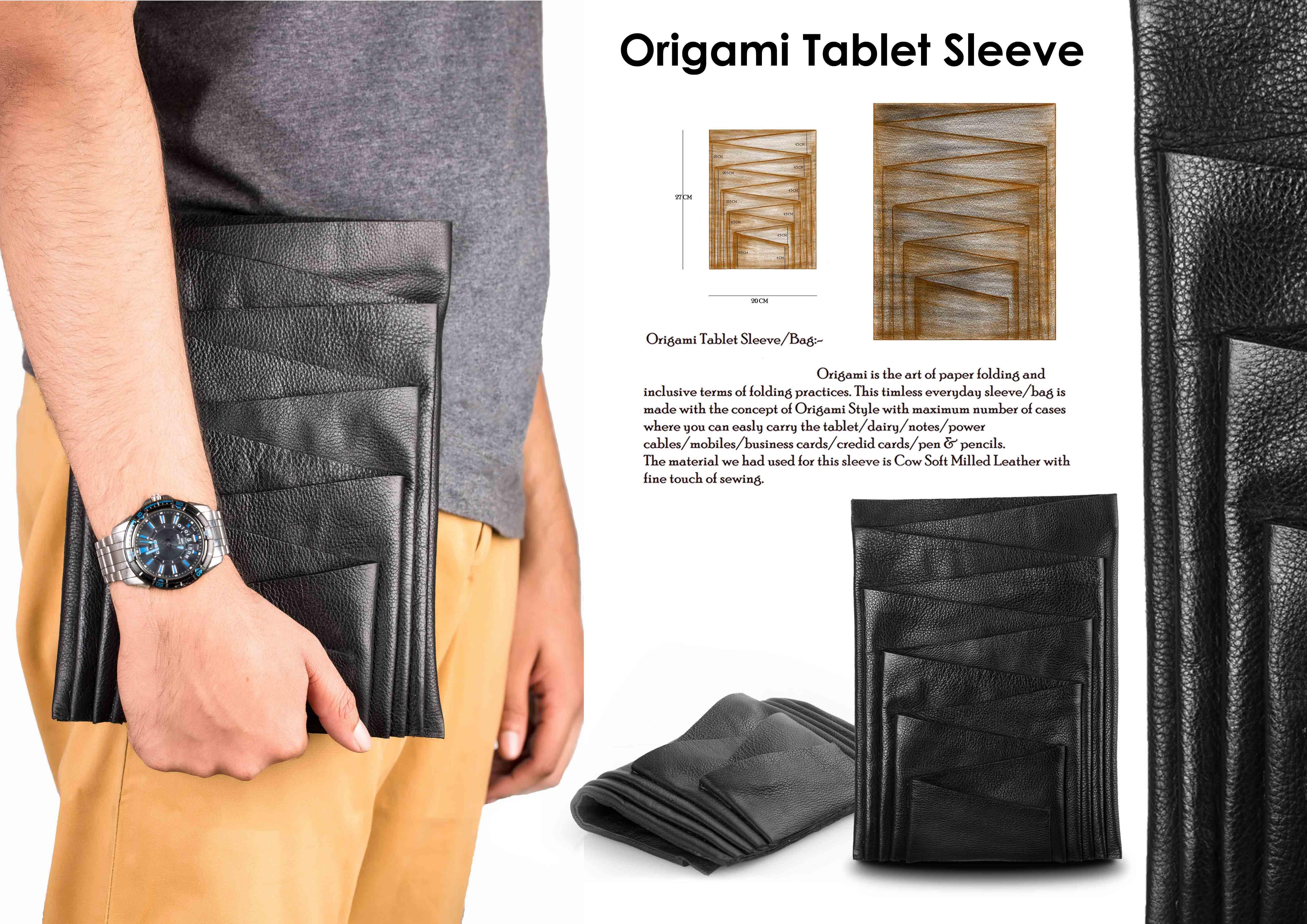 WINNER Origami Tablet Sleeve By Mohamed Khudrathl
