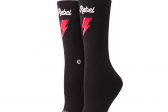 david bowie x stance socks: rebel rebel