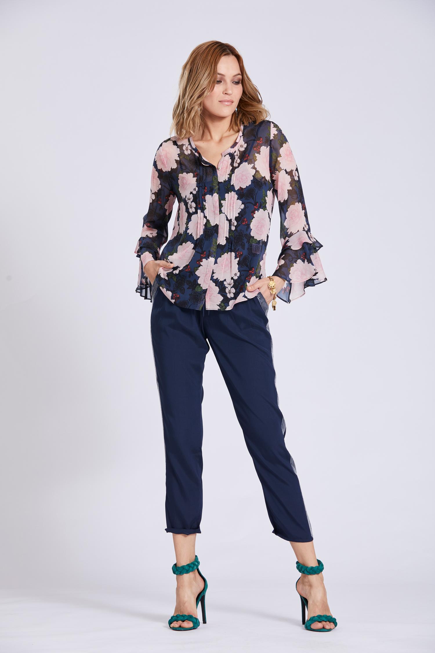 model wearing Loobie's Story Frill Seeker collection