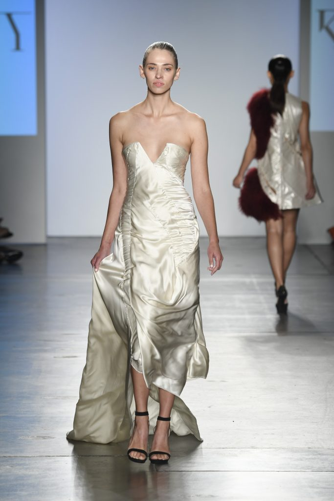 Global Fashion Collective presents Kirsten Ley's Mitosis collectin. Model walks the runway