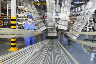 a chinese textile manufacturer at work