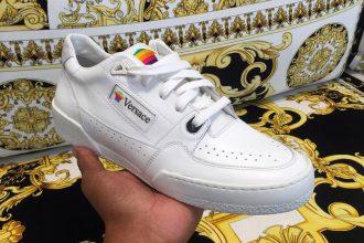 Versace Apple sneakers.