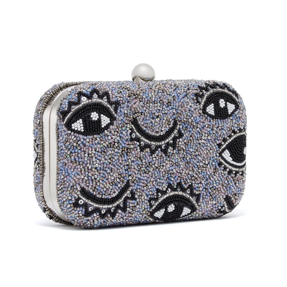 (3) Winking Eye Box Clutch, $130.00 USD