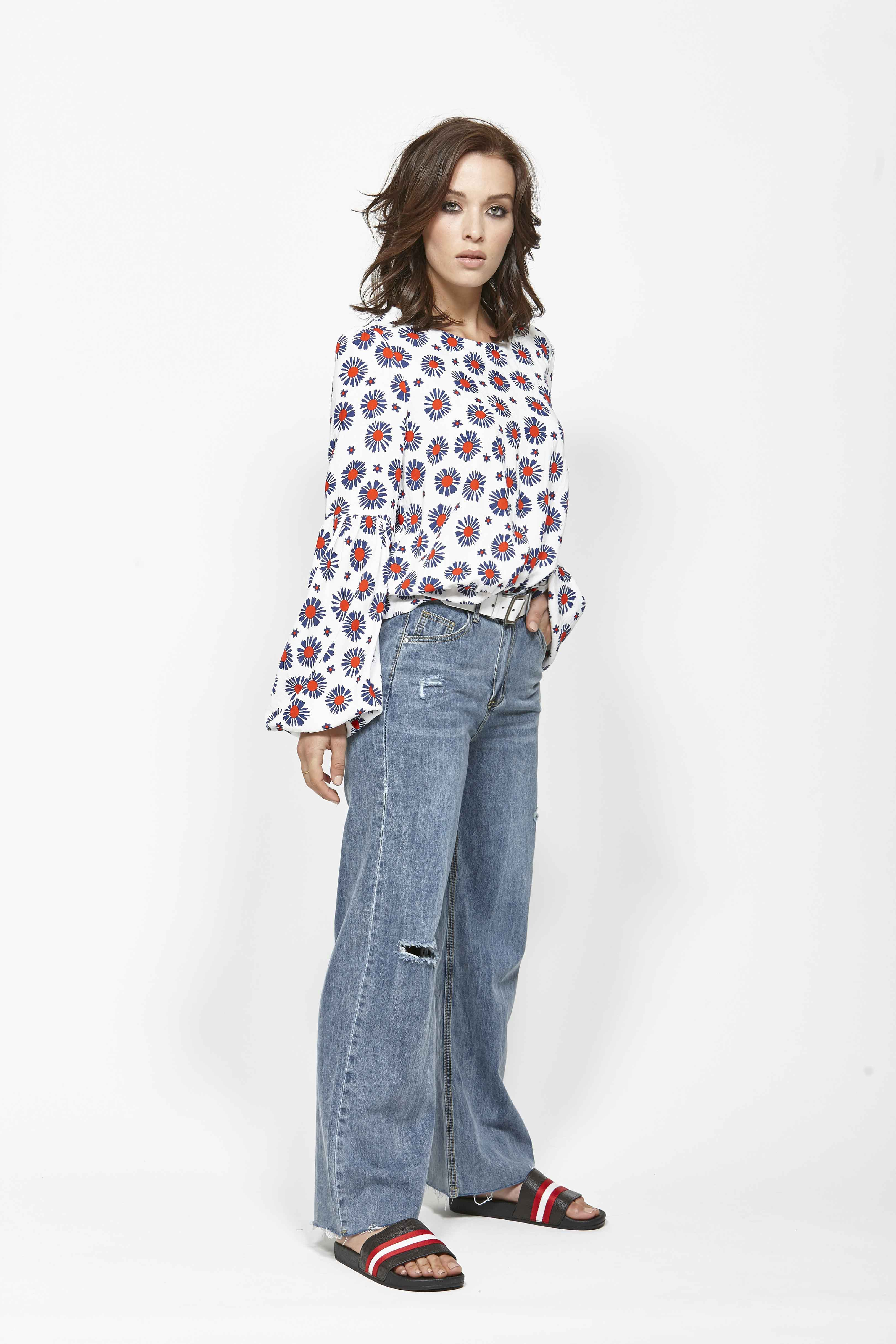 LEO+BE LB1353 Tactic Top, RRP$169.00 & LEO+BE LB1380 Wide Leg Jean, RRP$135.00