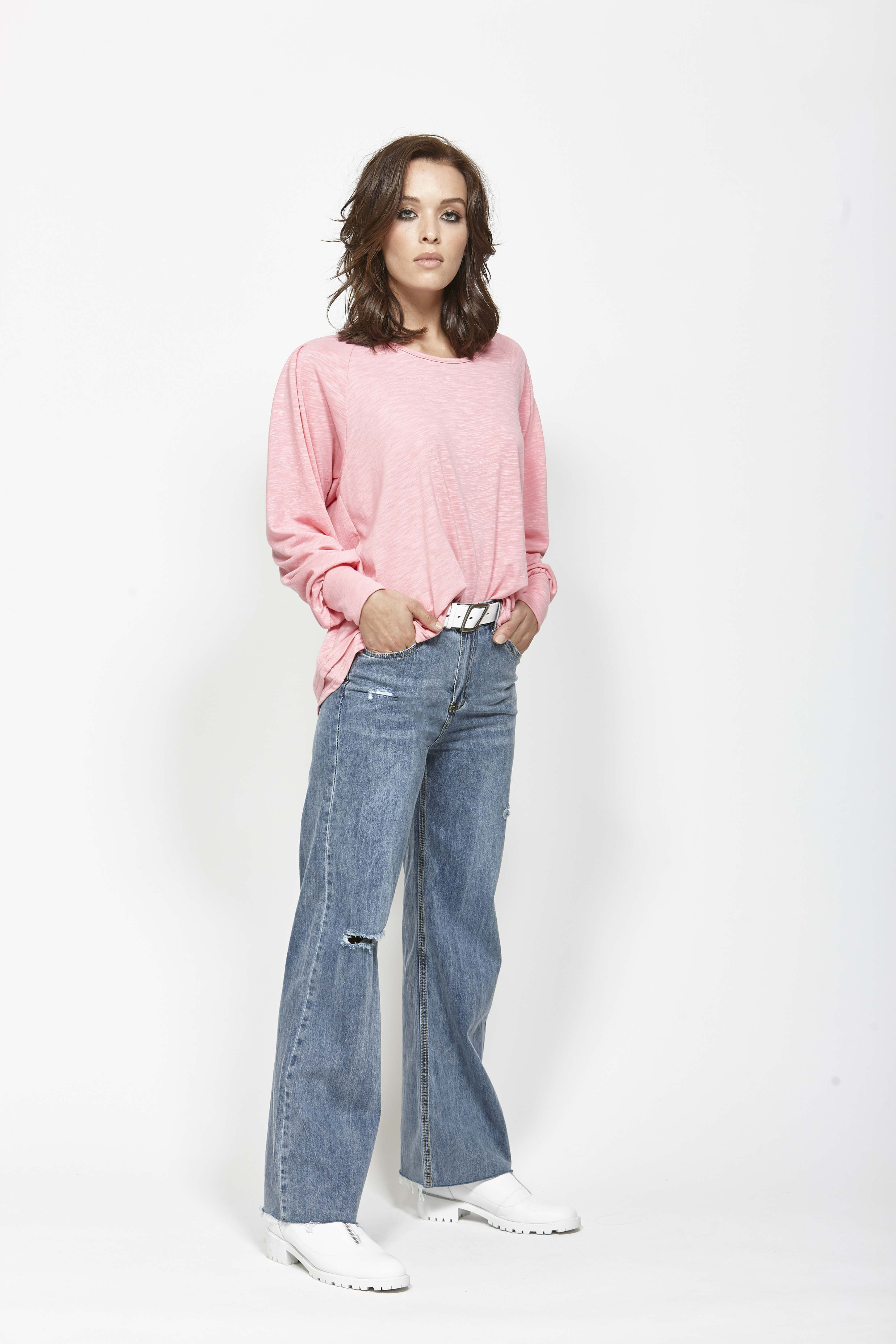 LEO+BE LB1379 Pleat It Top, RRP$119.00 & LEO+BE LB1380 Wide Leg Jean, RRP$135.00